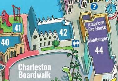 Claire's Map Location at Broadway at the Beach